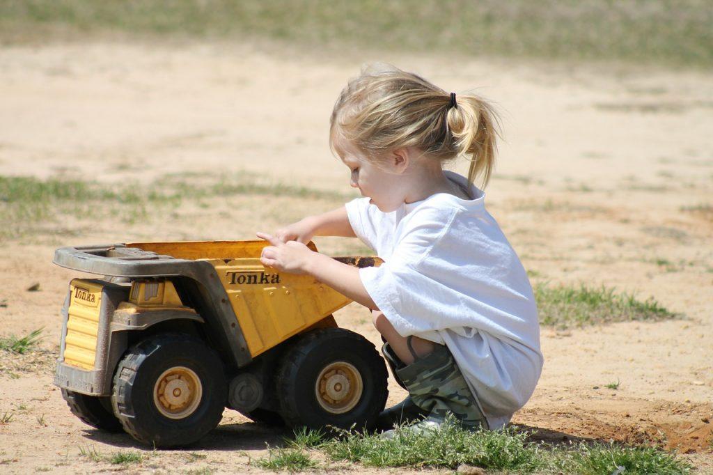 girl, child, playing